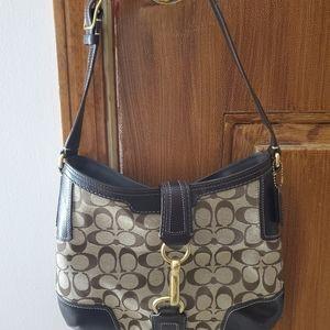 Coach hand bag/ Gold hardware